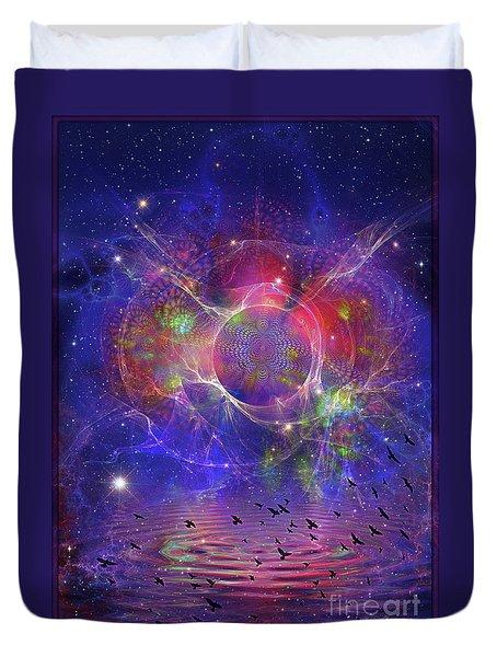 Photon Rings Duvet Cover