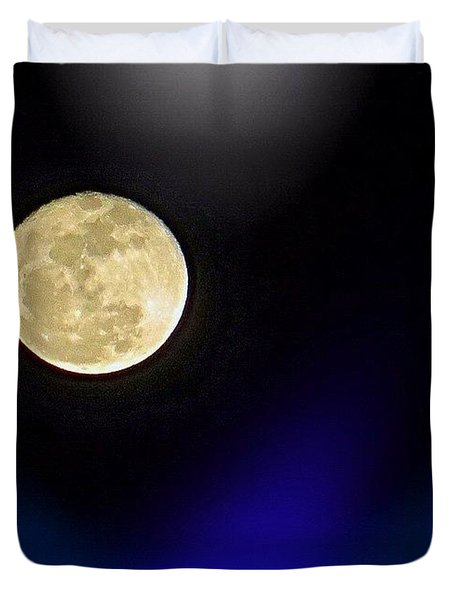 Photoshopping Tonight's #moon. Wish Duvet Cover
