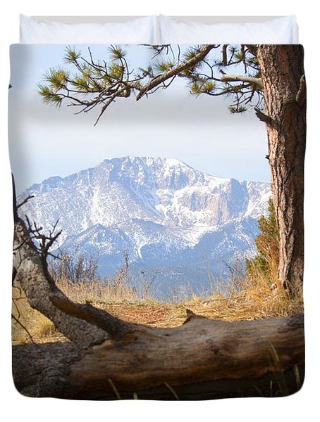 Pikes Peak And Trail To Bald Mountain Duvet Cover