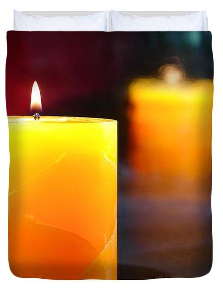 Pillar Candle Duvet Cover