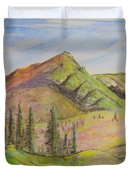 Pines On The Hills Duvet Cover