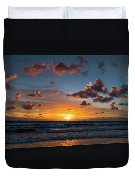 Pink Cloud Sunrise Delray Beach Florida Duvet Cover