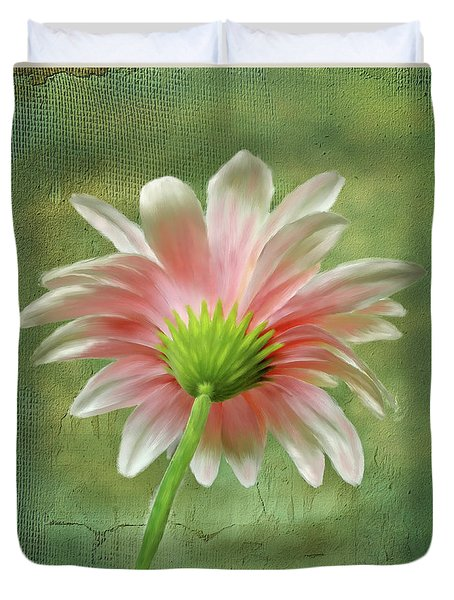 Pink Dahlia Duvet Cover by Mary Timman