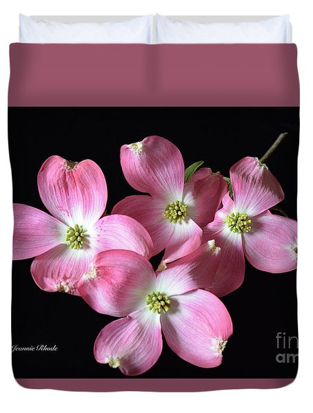 Pink Dogwood Branch Duvet Cover