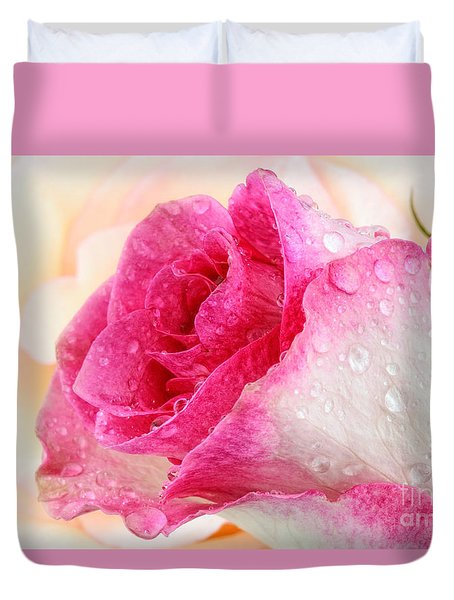 Pink Duvet Cover by Mark Johnson
