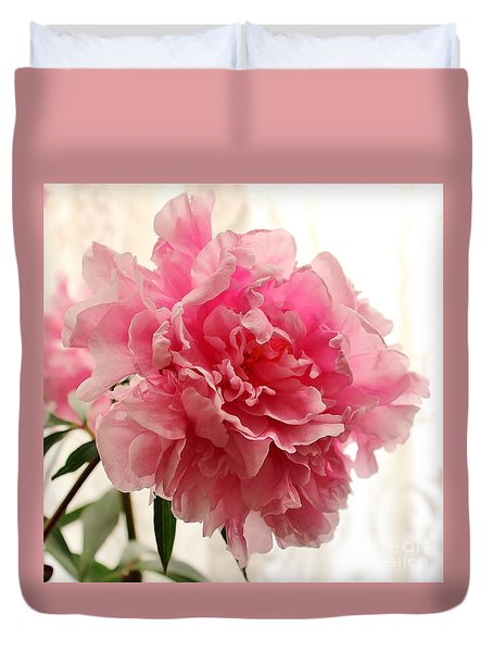 Pink Peony 2 Duvet Cover by Katy Mei