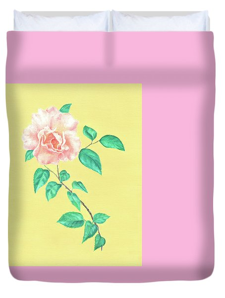 Pink Rose Duvet Cover by Elizabeth Lock