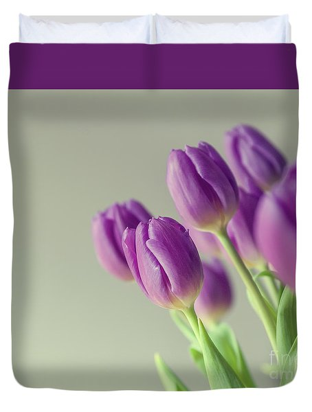 Pink Tulips Duvet Cover by Patricia Hofmeester