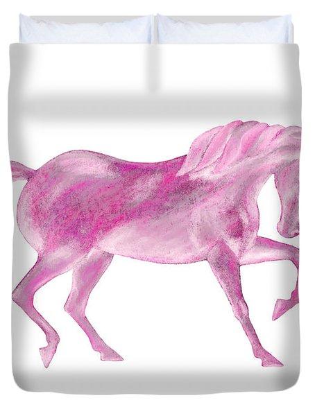 Pink Unicorn Duvet Cover