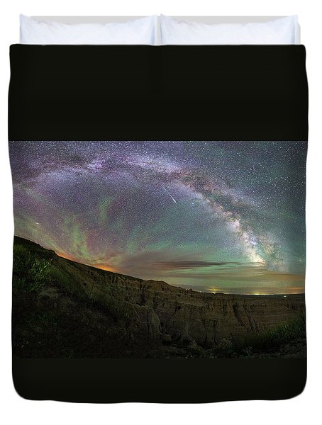 Duvet Cover featuring the photograph Pinnacles  by Aaron J Groen