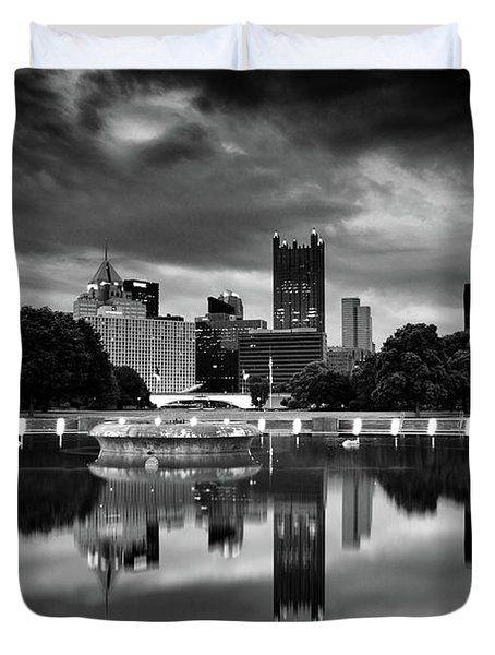 Pittsburgh  Reflections  Duvet Cover