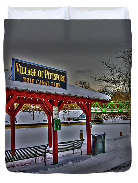 Pittsford Canal Park Duvet Cover