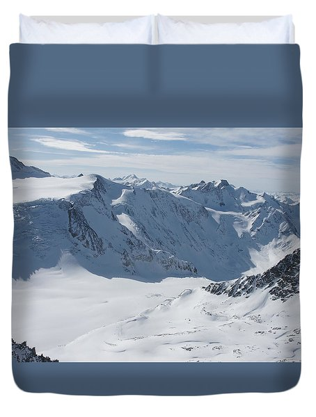 Duvet Cover featuring the photograph Pitztal Glacier by Christian Zesewitz