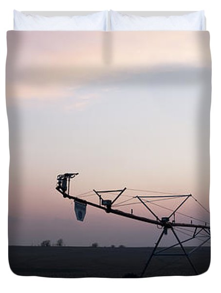 Pivot Irrigation And Sunset Duvet Cover