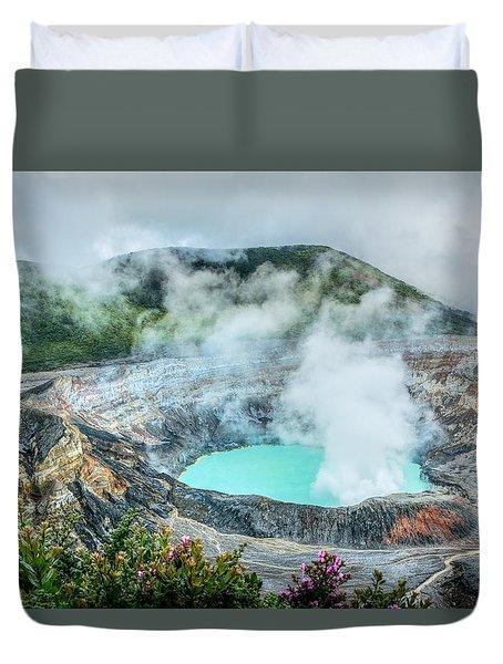 Poas Volcano, Costa Rica Duvet Cover