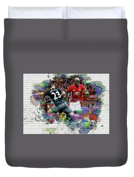 Pogba Street Art Duvet Cover by Don Kuing