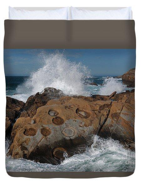 Point Lobos' Concretions Duvet Cover