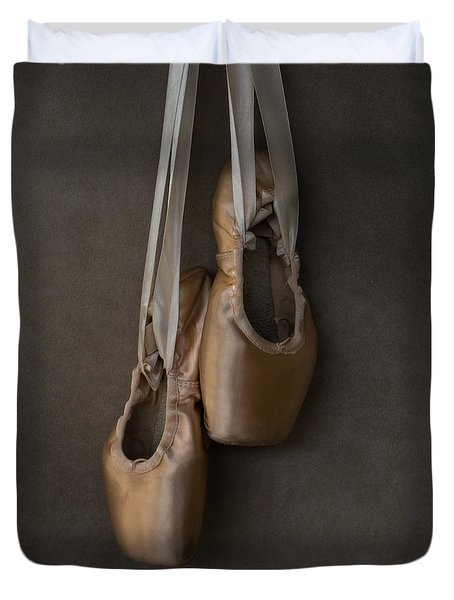 Duvet Cover featuring the photograph Sacred Pointe Shoes by Laura Fasulo