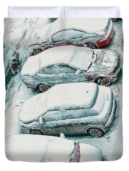 Pokrovka Parking Duvet Cover