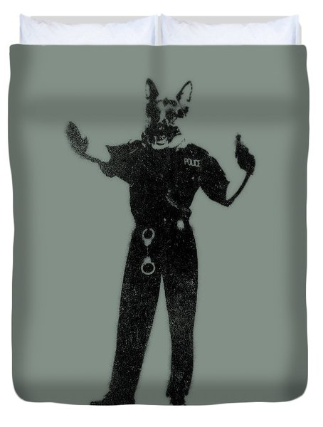 Police Dog Duvet Cover by Pixel  Chimp