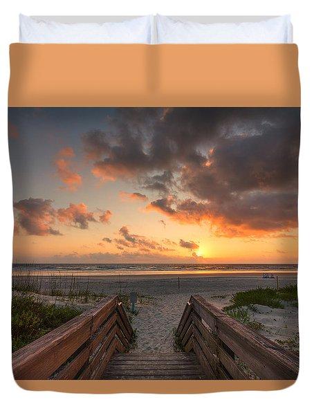 Ponce De Leon Inlet Beach Path Duvet Cover