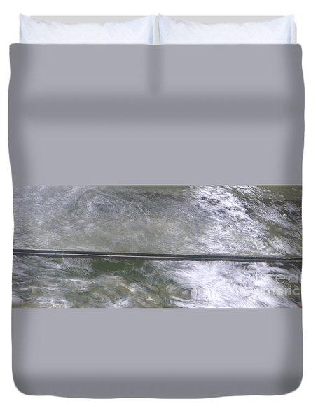 Duvet Cover featuring the photograph Pond  by Nora Boghossian