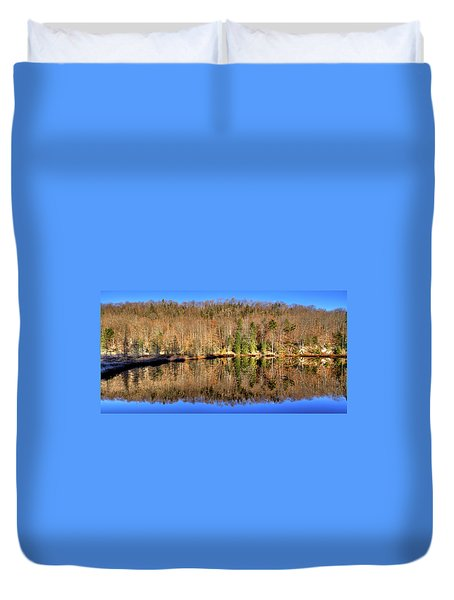 Duvet Cover featuring the photograph Pond Reflections by David Patterson