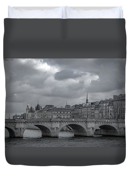 Pont Neuf Paris Duvet Cover