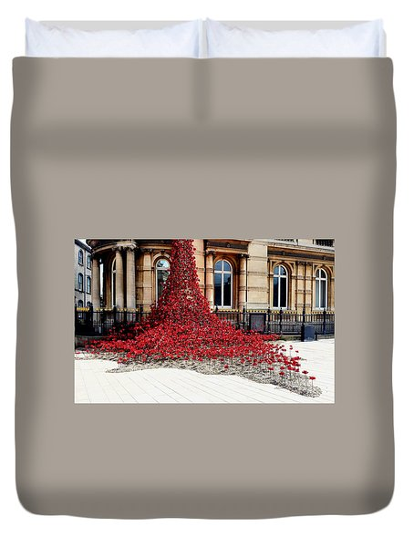Poppies - City Of Culture 2017, Hull Duvet Cover