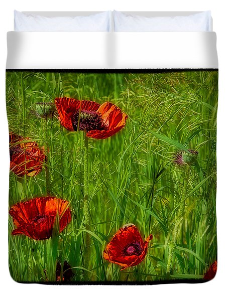 Poppies Duvet Cover by Hugh Smith