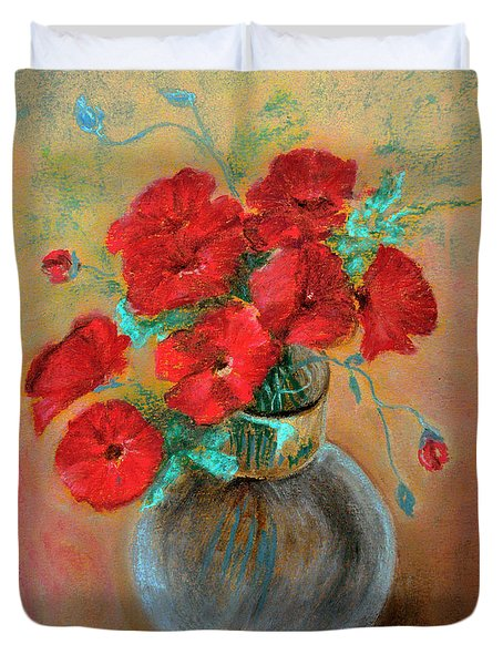 Poppies  Duvet Cover by Jasna Dragun