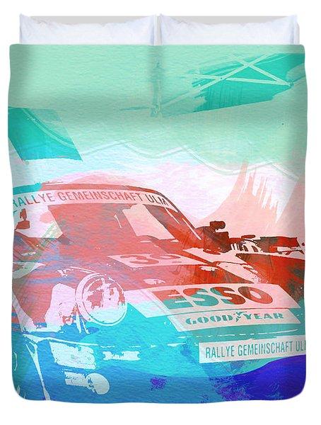 Porsche 911  Duvet Cover by Naxart Studio