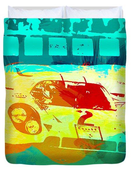 Porsche 917 Watercolor Duvet Cover by Naxart Studio