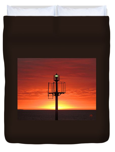 Duvet Cover featuring the photograph Port Hughes Lookout by Linda Hollis