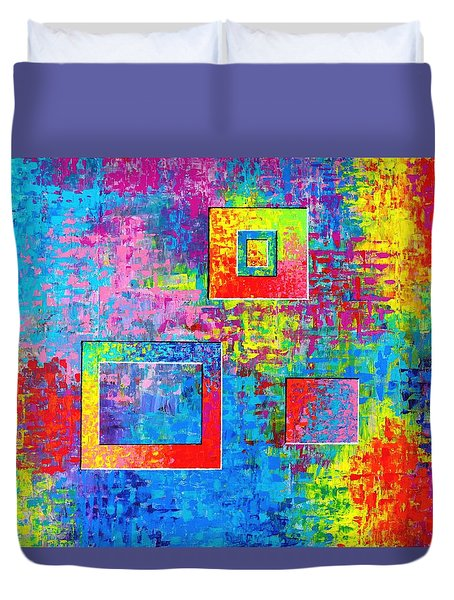 Portals Of Color Duvet Cover