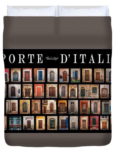 Porte D'italia Duvet Cover