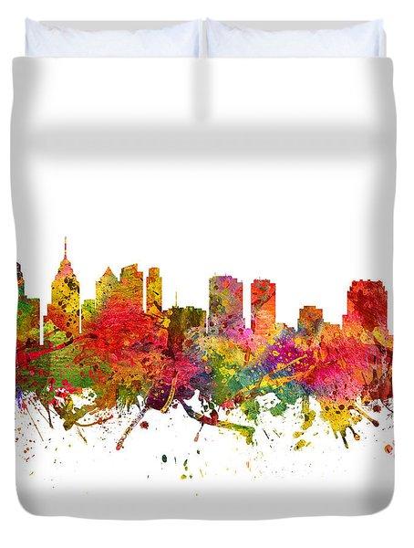 Philadelphia Cityscape 08 Duvet Cover by Aged Pixel