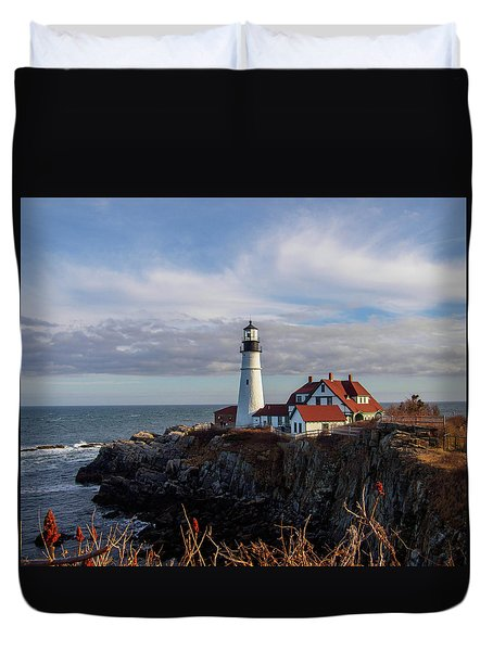 Portland Head Light Duvet Cover