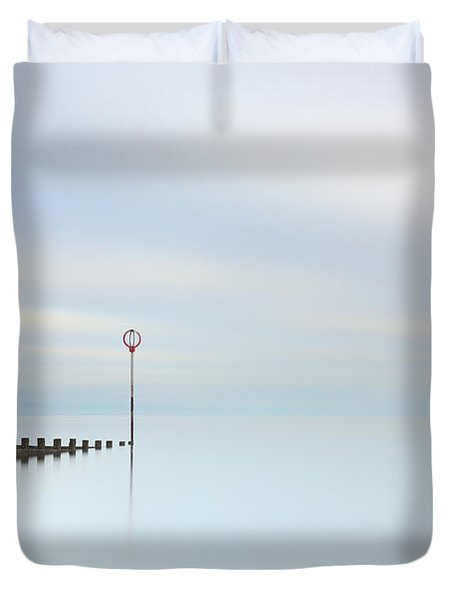 Duvet Cover featuring the photograph Portobello Seascape by Grant Glendinning