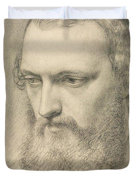 Portrait - Head Study Of Daniel Casey Duvet Cover