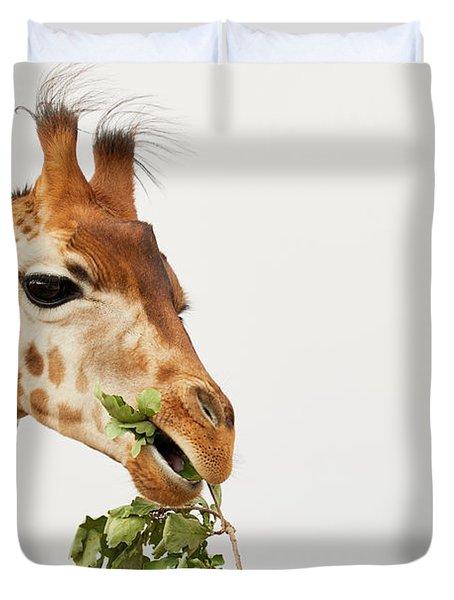 Portrait Of A Rothschild Giraffe  Duvet Cover