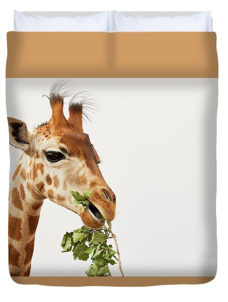 Portrait Of A Rothschild Giraffe  Duvet Cover