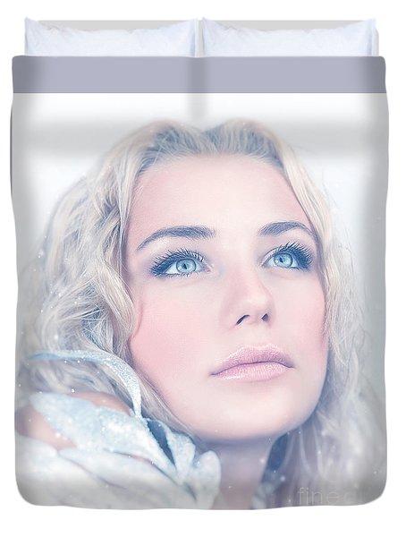 Portrait Of Gorgeous Female Duvet Cover