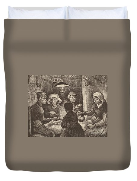 Potato Eaters, 1885 Duvet Cover by Vincent Van Gogh
