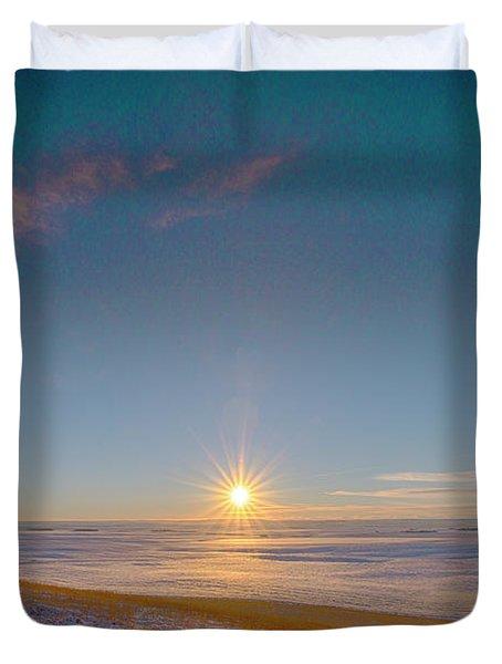 Prairie Winter Sunset Duvet Cover