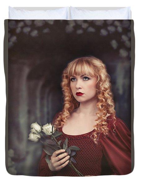 Pre-raphaelite Woman Duvet Cover