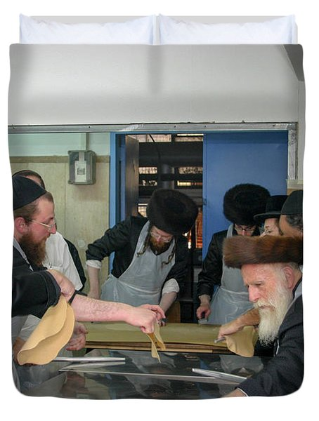 Preparing Matzah, Tel Aviv, Israel Duvet Cover