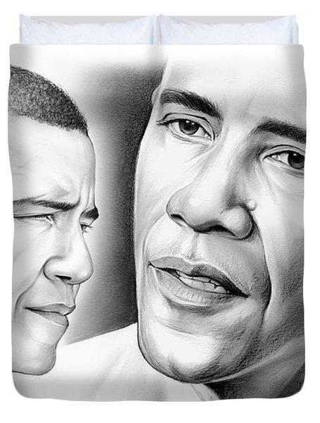 President Barack Obama Duvet Cover by Greg Joens