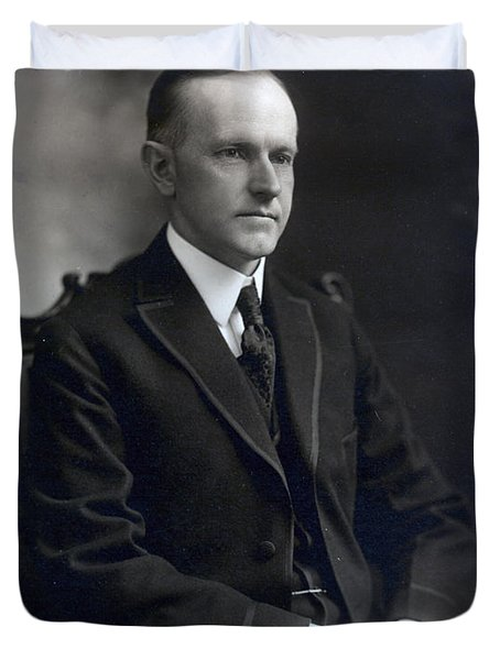 President Calvin Coolidge Duvet Cover