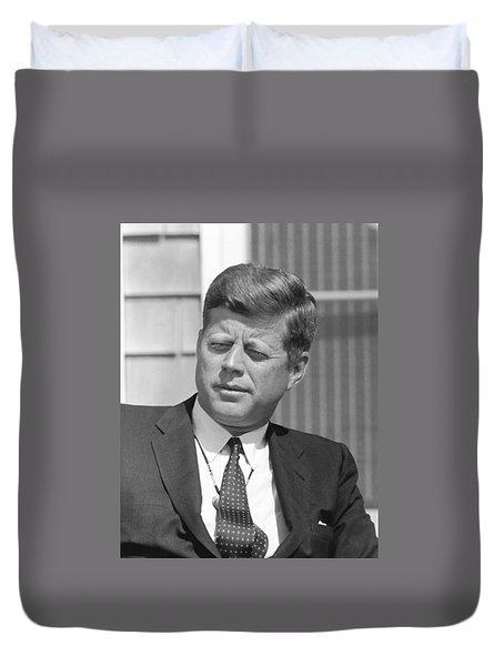 President John Kennedy Duvet Cover by War Is Hell Store